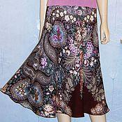 Одежда handmade. Livemaster - original item Skirt pavlovoposadskaja shawl