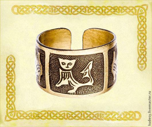 Кольца ручной работы. Ярмарка Мастеров - ручная работа. Купить Агнеца зверь. Handmade. Перстень, золотой, оберег, медь