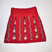 Работы для детей, ручной работы. Ярмарка Мастеров - ручная работа Юбка для девочки 7-10 л. вязаная с вышивкой. Handmade.