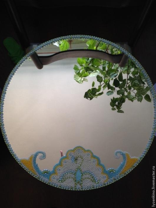 Зеркала ручной работы. Ярмарка Мастеров - ручная работа. Купить Нежность. Handmade. Лимонный, белый, бисер, зеркало, винтаж, прованс