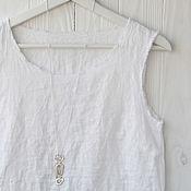 Одежда handmade. Livemaster - original item White linen top with open edges. Handmade.