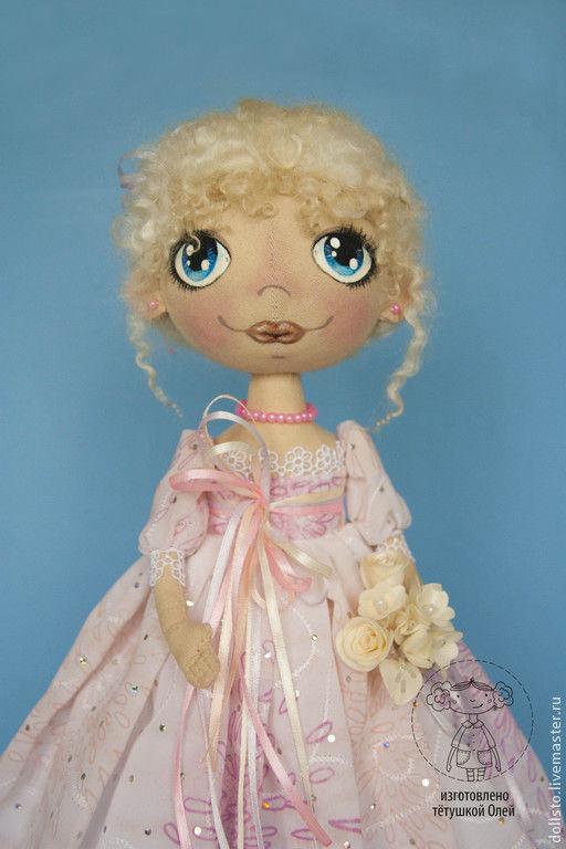 Куклы тыквоголовки ручной работы. Ярмарка Мастеров - ручная работа. Купить Барышня Снежана. Handmade. Кукла, тыквоголовая кукла, шерсть