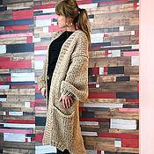 Одежда handmade. Livemaster - original item Beige knitted cardigan. Handmade.