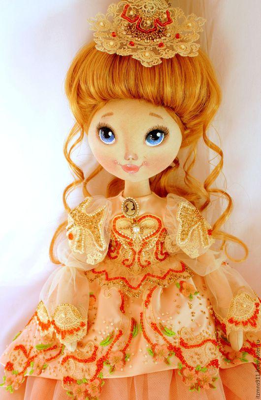 Коллекционные куклы ручной работы. Ярмарка Мастеров - ручная работа. Купить Коллекционная  текстильная кукла - дама эпохи. Handmade. Комбинированный