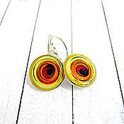 Украшения ручной работы. Ярмарка Мастеров - ручная работа Circle -желто оранжевые. Handmade.