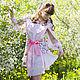 Платья ручной работы. Платье-рубашка с открытыми плечами и съемным поясом. Мастерская MARIYA MAYOROVA. Интернет-магазин Ярмарка Мастеров.