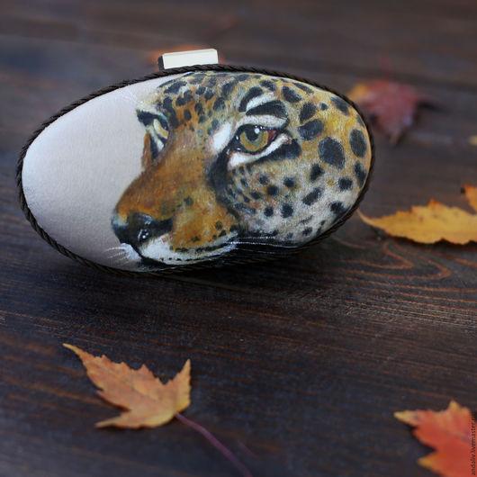 """Женские сумки ручной работы. Ярмарка Мастеров - ручная работа. Купить Клатч """"Леопард"""". Handmade. Бежевый, леопардовый, леопардовый клатч"""