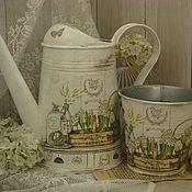 """Лейки ручной работы. Ярмарка Мастеров - ручная работа Лейка и кашпо """" Скоро весна..."""". Handmade."""