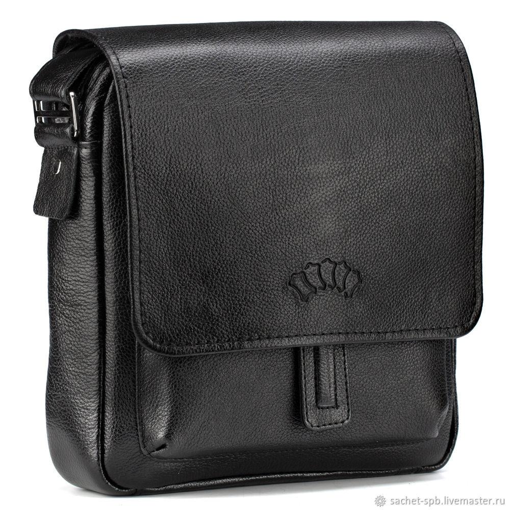 Leather crossbody bag 'Alex' (black), Crossbody bag, St. Petersburg,  Фото №1