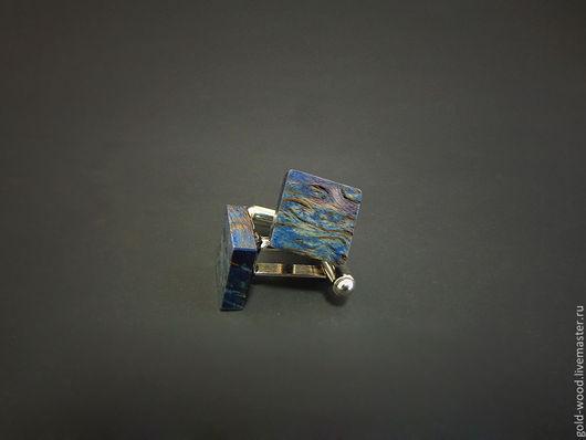 Запонки ручной работы. Ярмарка Мастеров - ручная работа. Купить Запонки Dream. Handmade. Васильковый, голубой, запонки, goldwood