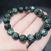 Украшения handmade. Livemaster - original item Bracelet natural stone serafinite (a clinochlore). Handmade.