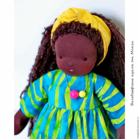 Вальдорфская игрушка ручной работы. Ярмарка Мастеров - ручная работа. Купить Африканочки, вальдорфские куклы. Handmade. Вальдорфская кукла, хлопок