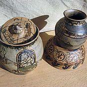 """Посуда ручной работы. Ярмарка Мастеров - ручная работа """"Сказки Шахерезады"""" набор керамической посуды. Handmade."""