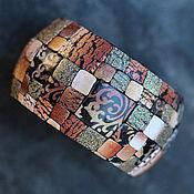 Украшения ручной работы. Ярмарка Мастеров - ручная работа браслет из полимерной глины теплый этно. Handmade.