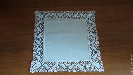 Текстиль, ковры ручной работы. Ярмарка Мастеров - ручная работа. Купить Салфетка кружевная (хлопок). Handmade. Бежевый, коклюшечное кружево