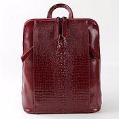 Сумки и аксессуары ручной работы. Ярмарка Мастеров - ручная работа кожаный рюкзак женский - сумка трансформер бордо. Handmade.