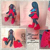 Куклы и игрушки ручной работы. Ярмарка Мастеров - ручная работа Зайка в розовом. Текстильная игрушка. Handmade.