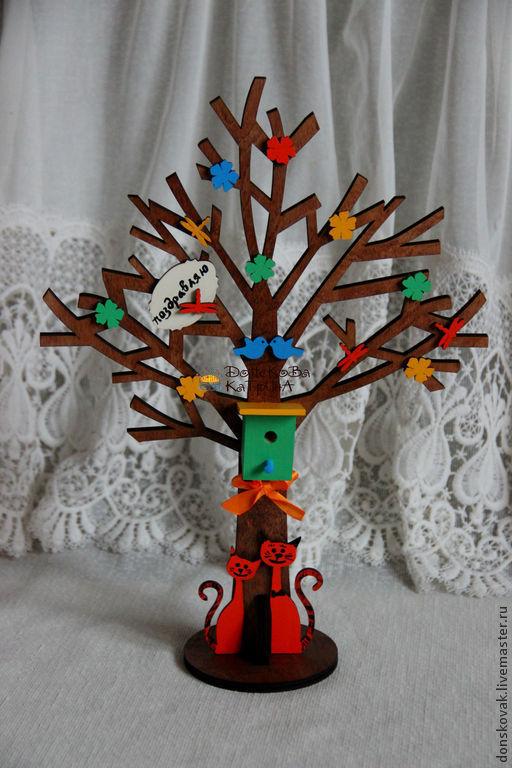 Персональные подарки ручной работы. Ярмарка Мастеров - ручная работа. Купить Дерево счастья. Handmade. Яркий подарок, оригинальный подарок