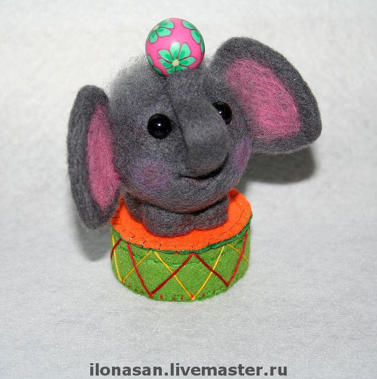 Слоник Гуня (сухое валяние), Войлочная игрушка, Владивосток,  Фото №1
