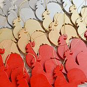 """Подарки к праздникам ручной работы. Ярмарка Мастеров - ручная работа Деревянная елочная игрушка """"Петушок"""", игрушка на елку из дерева. Handmade."""