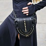 Сумки и аксессуары handmade. Livemaster - original item Waist leather black Goan bag.. Handmade.