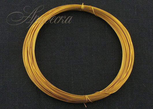 Проволока медная золотого цвета 0.4мм Германия 15м/упак