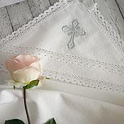 Работы для детей, handmade. Livemaster - original item Christening diaper with a hood