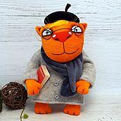 Куклы и игрушки handmade. Livemaster - original item Cultural cat of St. Petersburg. Soft toy red cat Vasya Lozhkina. Handmade.