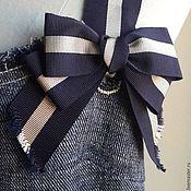 Одежда ручной работы. Ярмарка Мастеров - ручная работа Сарафан 2085 джинс вышивка. Handmade.