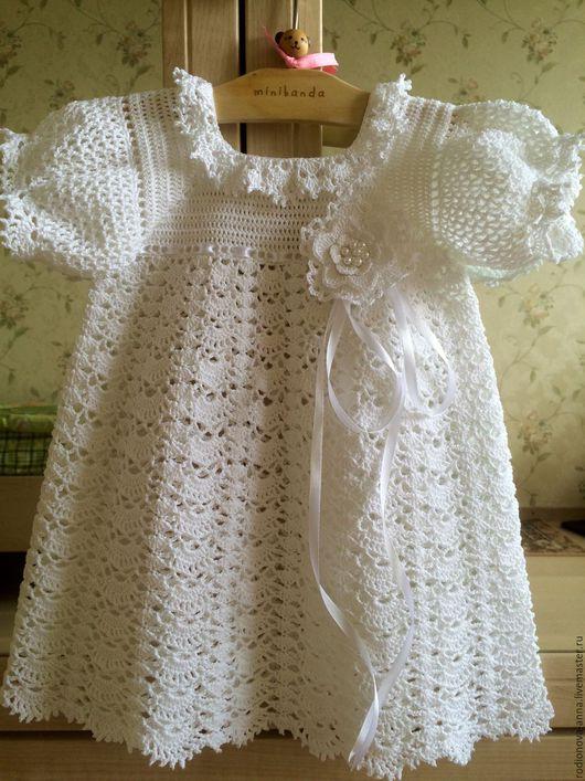 Одежда для девочек, ручной работы. Ярмарка Мастеров - ручная работа. Купить Платье для девочки. Handmade. Белый, нитки хлопок