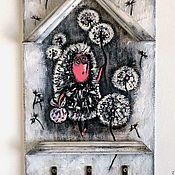 Для дома и интерьера ручной работы. Ярмарка Мастеров - ручная работа Ключница-вешалка Ежик в одуванчиках. Handmade.