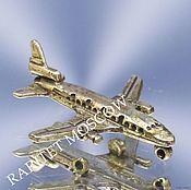 Винтаж ручной работы. Ярмарка Мастеров - ручная работа Самолет фигурка серебро 800 проба 31. Handmade.