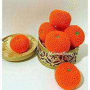 Подарки к праздникам ручной работы. Ярмарка Мастеров - ручная работа Вязаные мандарины. Handmade.