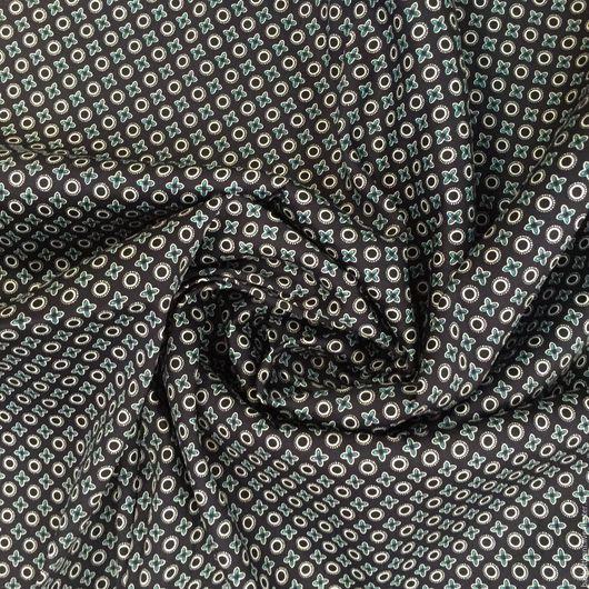 Шитье ручной работы. Ярмарка Мастеров - ручная работа. Купить Итальянский хлопковый сатин. Handmade. Тёмно-синий, ткань на брюки