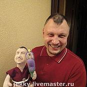 Куклы и игрушки ручной работы. Ярмарка Мастеров - ручная работа Портретная кукла - Любитель шашлыка из баклажанов. Handmade.