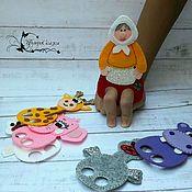 """Кукольный театр ручной работы. Ярмарка Мастеров - ручная работа Сказка """"Жили у бабуси..."""" пальчиковый театр,игрушки из фетра. Handmade."""