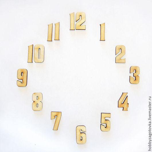 Декупаж и роспись ручной работы. Ярмарка Мастеров - ручная работа. Купить Комплект цифр для часов F-0147. Handmade. Белый