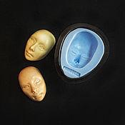 Материалы для творчества ручной работы. Ярмарка Мастеров - ручная работа Молд для кукольного лица №3. Handmade.