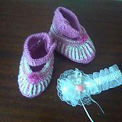 Обувь ручной работы. Ярмарка Мастеров - ручная работа Пинетки для крошки. Handmade.