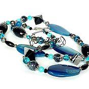 Украшения handmade. Livemaster - original item Beads with agate