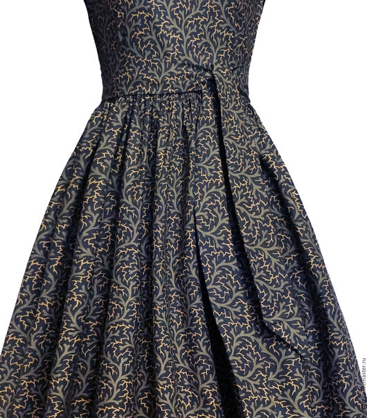 Платья ручной работы. Ярмарка Мастеров - ручная работа. Купить Платье Frost. Handmade. Тёмно-синий, серый, золотой