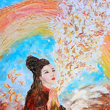 """Картины и панно ручной работы. Ярмарка Мастеров - ручная работа Картина """"Любовь к Миру"""". Handmade."""