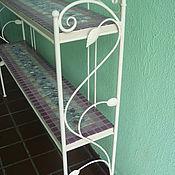 Для дома и интерьера handmade. Livemaster - original item The shelves are wrought iron with mosaic shelves,