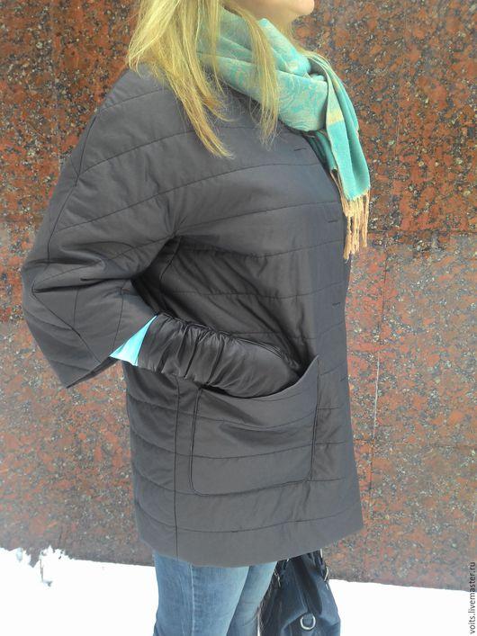 """Верхняя одежда ручной работы. Ярмарка Мастеров - ручная работа. Купить Полупальто """"Safa"""". Handmade. Коричневый, пальто на подкладе"""
