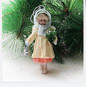 """Подарки к праздникам ручной работы. Ярмарка Мастеров - ручная работа ватная елочная игрушка """"Даша"""". Handmade."""