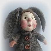"""Куклы и пупсы ручной работы. Ярмарка Мастеров - ручная работа шерсть, сухое валяние, паперклей, """"Первый снег"""". Handmade."""