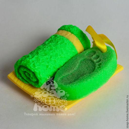 """Мыло ручной работы. Ярмарка Мастеров - ручная работа. Купить Сувенирное мыло """"Спа-пилинг"""". Handmade. Ярко-зелёный, спа"""
