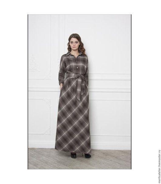 Платья ручной работы. Ярмарка Мастеров - ручная работа. Купить Байковое платье. Handmade. Серый, байковое платье, платье рубашка