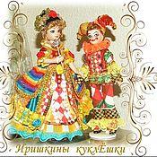 Куклы и игрушки handmade. Livemaster - original item Harlequin and Columbine - porcelain dolls. Handmade.