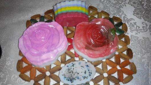 Мыло ручной работы. Ярмарка Мастеров - ручная работа. Купить Мыло ручной работы. Handmade. Комбинированный, розовый, зеленый